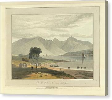 The Isle Of Arran Near Ardrossan Canvas Print by British Library