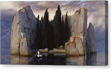The Isle Of The Dead Canvas Print by Arnold Bocklin