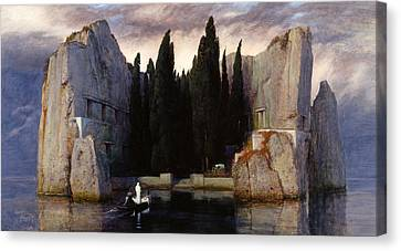 The Isle Of The Dead Canvas Print by Arnold Boecklin