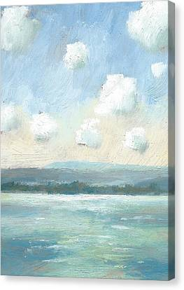 The Isle Of Wight From Portsmouth Part Nine Canvas Print by Alan Daysh