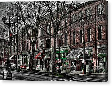 The J And M Hotel In Pioneer Square - Seattle Washington Canvas Print by David Patterson