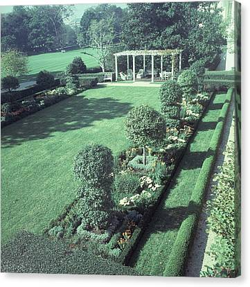 The Jacqueline Kennedy Garden At The White House Canvas Print