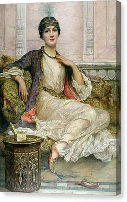 The Jade Necklace, 1908 Canvas Print by William Clark Wontner