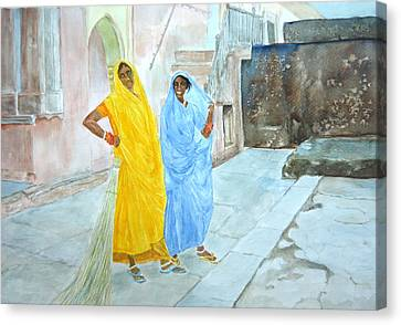 The Janitors Of Amber Fort Canvas Print