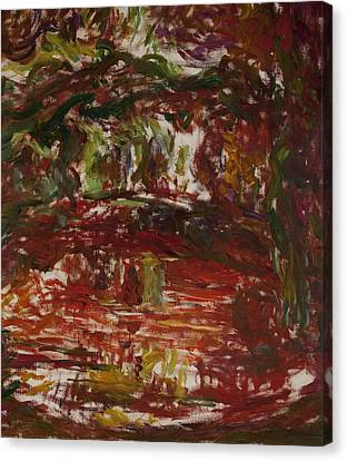 Loose Style Canvas Print - The Japanese Bridge At Giverny, Detail by Claude Monet