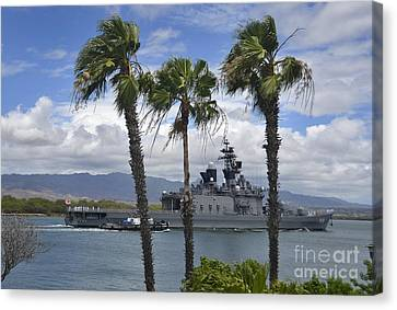 The Japanese Self Defense Force Ship Js Canvas Print