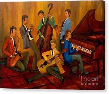 The Jazz Company Canvas Print by Larry Martin