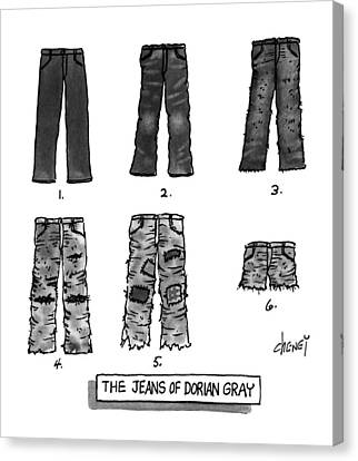 The Jeans Of Dorian Gray Canvas Print by Tom Cheney