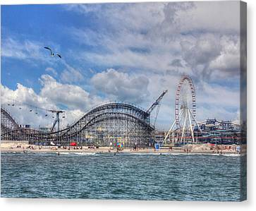 Roller Coaster Canvas Print - The Jersey Shore by Lori Deiter