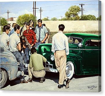 The Jesse Lopez '41 Ford Canvas Print by Ruben Duran