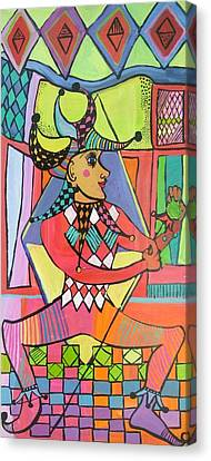 The Jester Canvas Print by Janet Ashworth