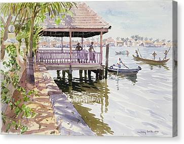 The Jetty Cochin Canvas Print by Lucy Willis