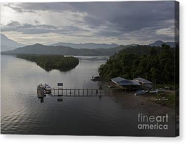 Canvas Print featuring the photograph The Jetty  by Gary Bridger