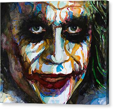 Canvas Print featuring the painting The Joker - Ledger by Laur Iduc