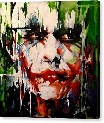 The Joker Canvas Print by Lorna Stephens