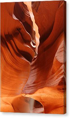 The Joker - Antelope Canyon Navajo Tribal Park - Page Arizona Canvas Print by Silvio Ligutti