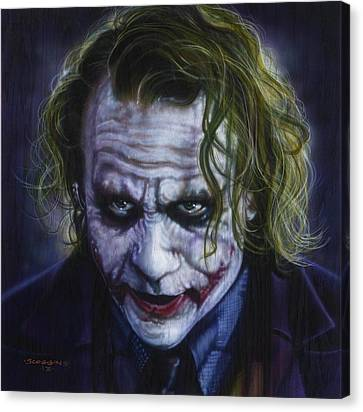 The Joker Canvas Print by Tim  Scoggins