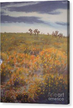 Canvas Print featuring the painting The Joshua Gathering by Suzanne McKay