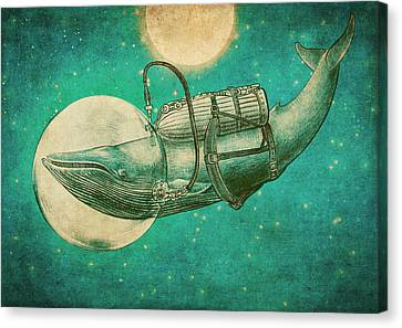 Moon Canvas Print - The Journey by Eric Fan