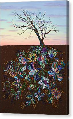 Rooted Canvas Print - The Journey by James W Johnson