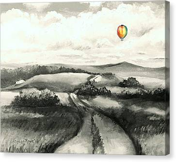 Gravel Road Canvas Print - The Journey by Shana Rowe Jackson
