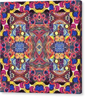 The Joy Of Design Mandala Series Puzzle 3 Arrangement 1 Canvas Print by Helena Tiainen