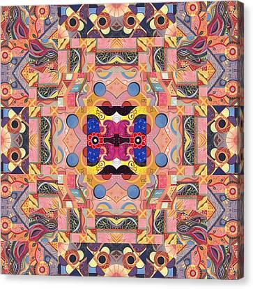 The Joy Of Design Mandala Series Puzzle 4 Arrangement 2 Canvas Print by Helena Tiainen