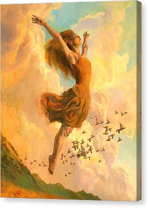 Dance Canvas Print - The Joy Of Life Small by Francois Girard