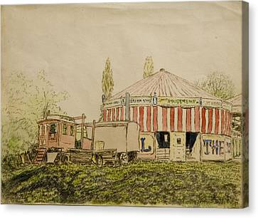 The Joy Wheel, Mitcham Canvas Print by John Doman Turner