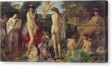 The Judgement Of Paris, 1870 Oil On Canvas Canvas Print by Anselm Feuerbach