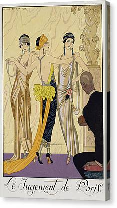 The Judgement Of Paris Canvas Print by Georges Barbier