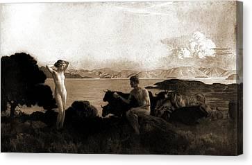 The Judgment Of Paris, Menard, Emile Renard Canvas Print by Litz Collection