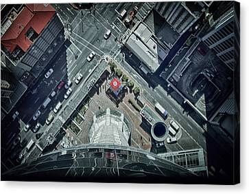 Canvas Print featuring the photograph The Jump by Kim Andelkovic