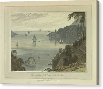 The Junction Of The Dart With The Sea Canvas Print by British Library