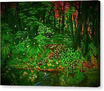 The Jungle Of Pennsylvania Canvas Print by Alexandria Weaselwise Busen