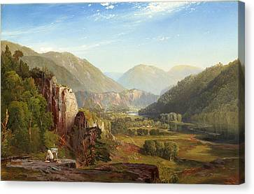 The Juniata Evening Canvas Print by Thomas Moran