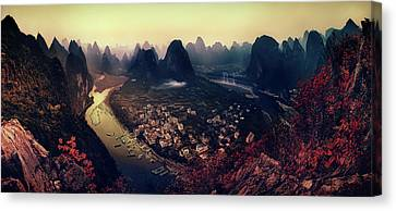 The Karst Mountains Of Guangxi Canvas Print by Clemens Geiger