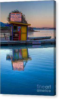 Canvas Print featuring the photograph The Kayak Shack Morro Bay by Terry Garvin