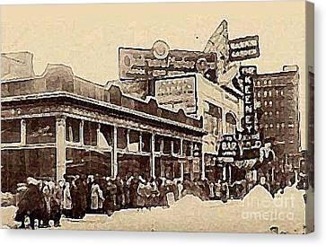 The Keeney Theatre In Newark N J In Winter 1914  Canvas Print
