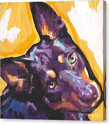 The Kelpie Kutie Canvas Print by Lea S