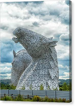The Kelpies Canvas Print by Alan Toepfer