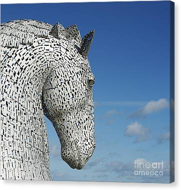 The Kelpies Canvas Print by Tim Gainey