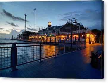 The Kemah Boardwalk Canvas Print by Linda Unger