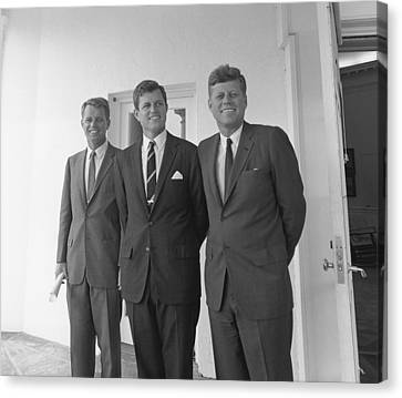 Senator Kennedy Canvas Print - The Kennedy Brothers by War Is Hell Store
