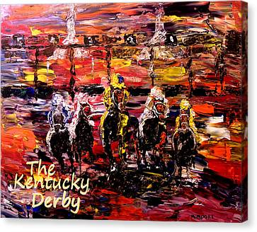 The Kentucky Derby - And They're Off Without Year  Canvas Print by Mark Moore