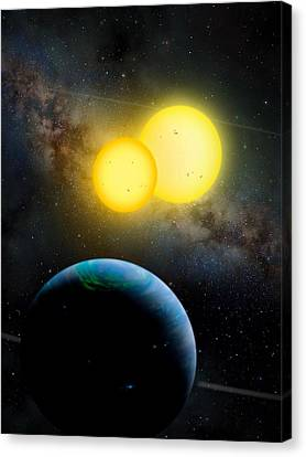 The Kepler 35 System Canvas Print by Movie Poster Prints