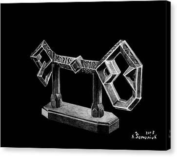 The Key To Erebor Canvas Print by Kayleigh Semeniuk