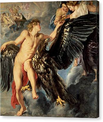 Zeus Canvas Print - The Kidnapping Of Ganymede by Rubens