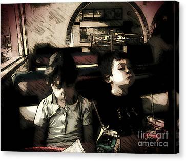The Kids Canvas Print by Jose Benavides