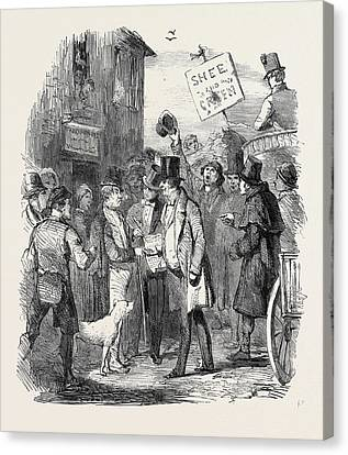 The Kilkenny Election, Canvassing For Votes Canvas Print by English School
